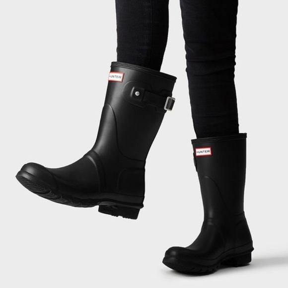 065c96cfaf45eb Hunter Shoes - Women s Original Short Rain Boots  Black